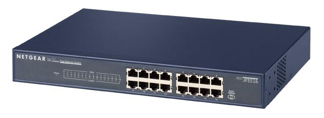 Netgear 16x 10/100 Fast Ethernet Switch