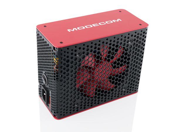 Modecom zdroj VOLCANO BRONZE 650W, ATX 2.31, 6xSATA, 120mm silent FAN 1800 RPM, aktivní PFC, černo/červený