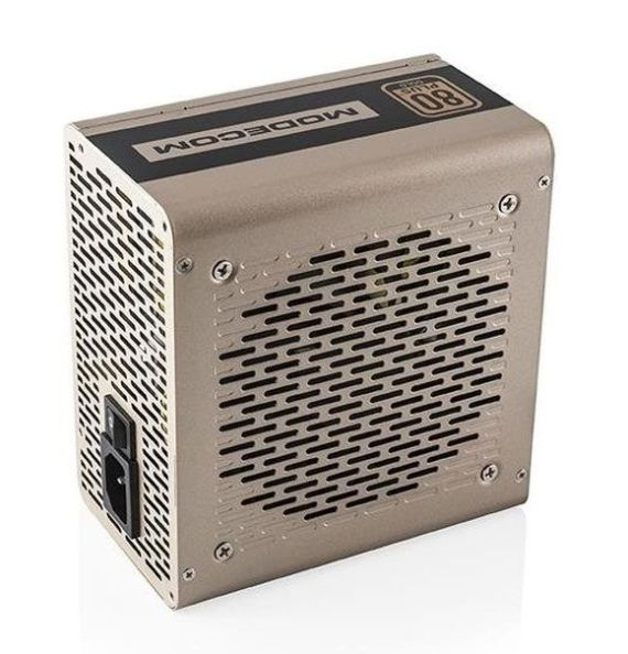 Modecom zdroj MC-500-G90 GOLD 500W, ATX 2.31, OVP/SCP/OPP, 4xSATA, 12 cm FAN, aktivní PFC, zlaté šasi