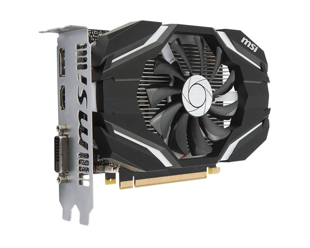 MSI GTX 1050 Ti 4G OC, 4GB GDDR5, PCIe x16 3.0, 128bit, DVI-D, HDMI, DP