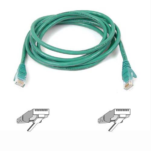 Belkin kabel PATCH UTP CAT5e 3m zelený, bulk Snagless