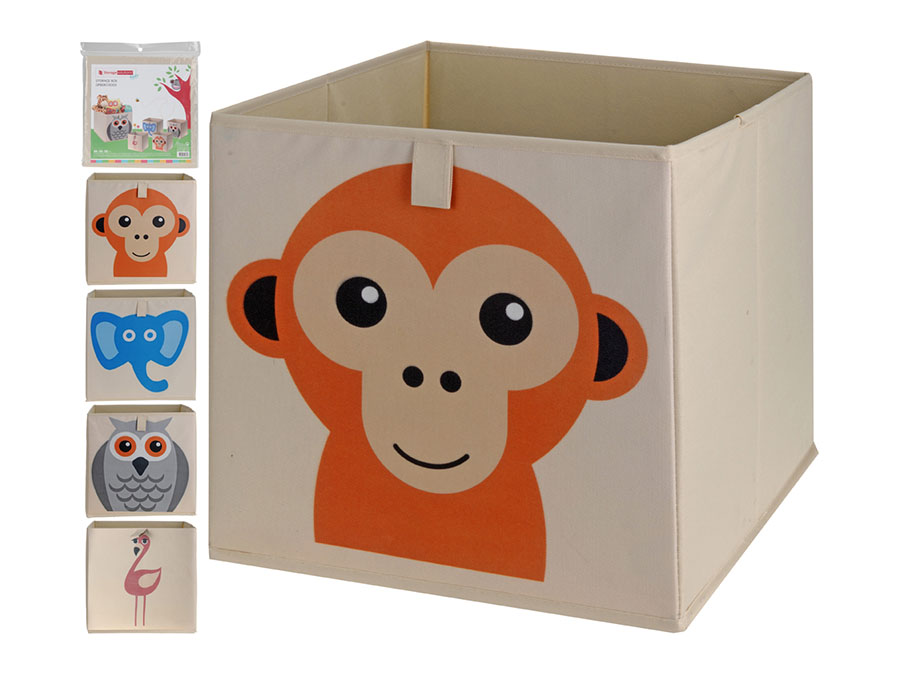 box na hračky textil 31x31s DEKOREM