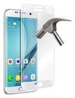 Puro ochranné sklo Tempered Glass s rámečkem pro Samsung Galaxy S7 edge, bílá