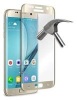 Puro ochranné sklo Tempered Glass s rámečkem pro Samsung Galaxy S7 edge, zlatá