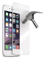 Puro ochranné sklo Tempered Glass s rámečkem pro iPhone 6 Plus / 6s Plus, bílá
