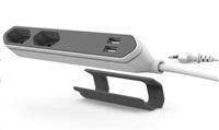Allocacoc PowerBar USB, white/grey 1,5m