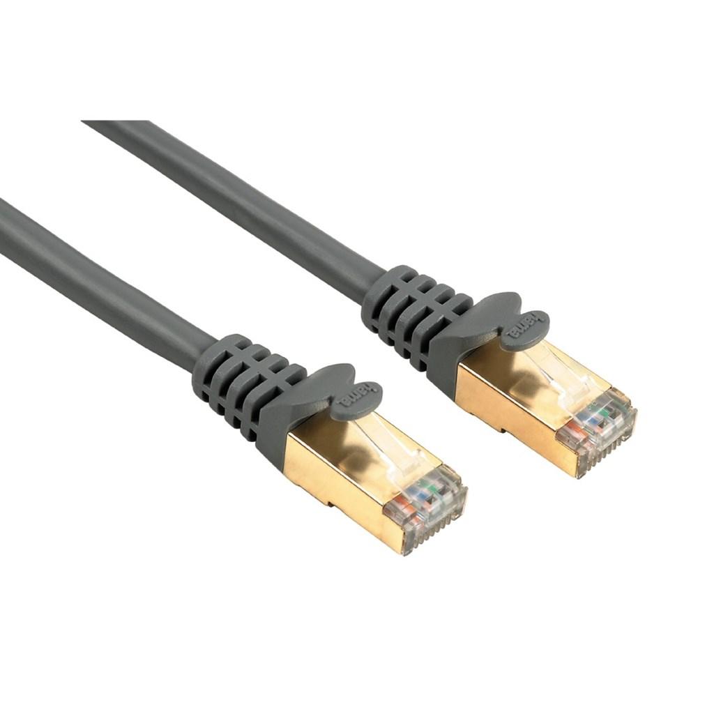 Hama síťový patch kabel CAT 5e, 2xRJ45, stíněný, 10m