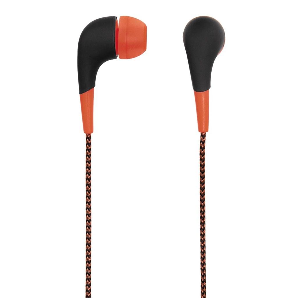 Hama sluchátka Neon, silikonové špunty, opletený kabel, oranžová, #135634