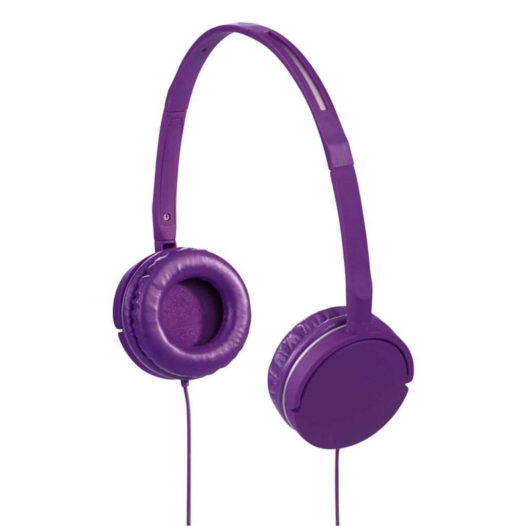 Hama sluchátka s mikrofonem Joy Slim, uzavřená, fialová