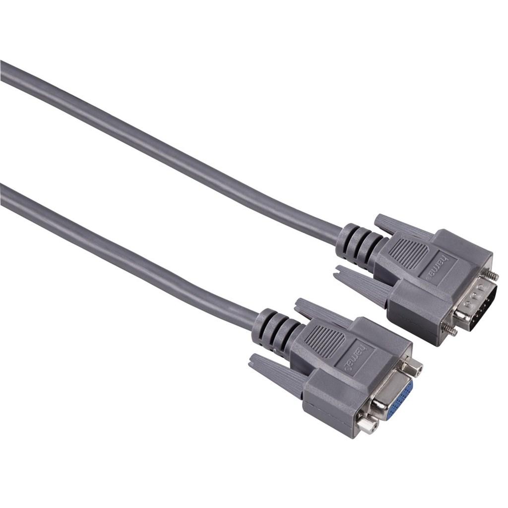 Hama VGA prodlužovací kabel, 15pin., 1.8m, šedý