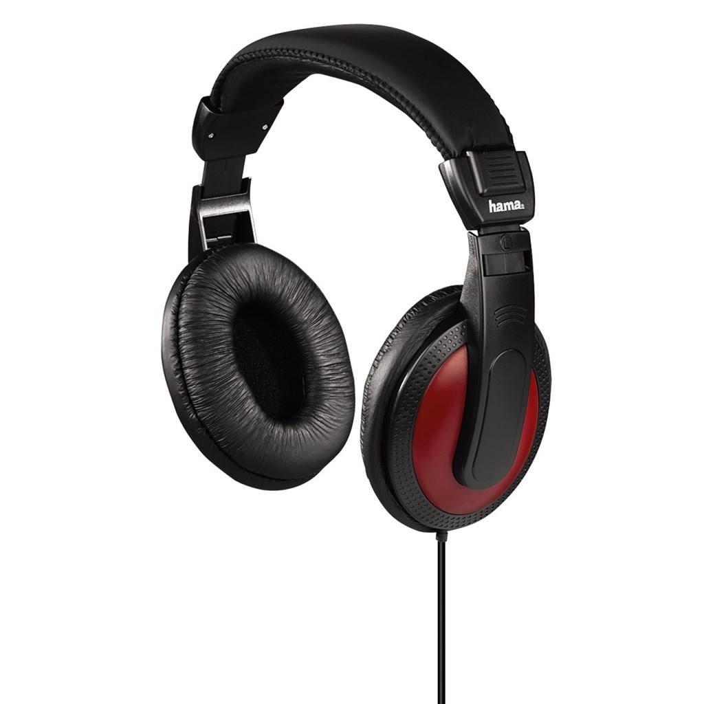 Hama sluchátka HK-5618, uzavřená, černá/červená