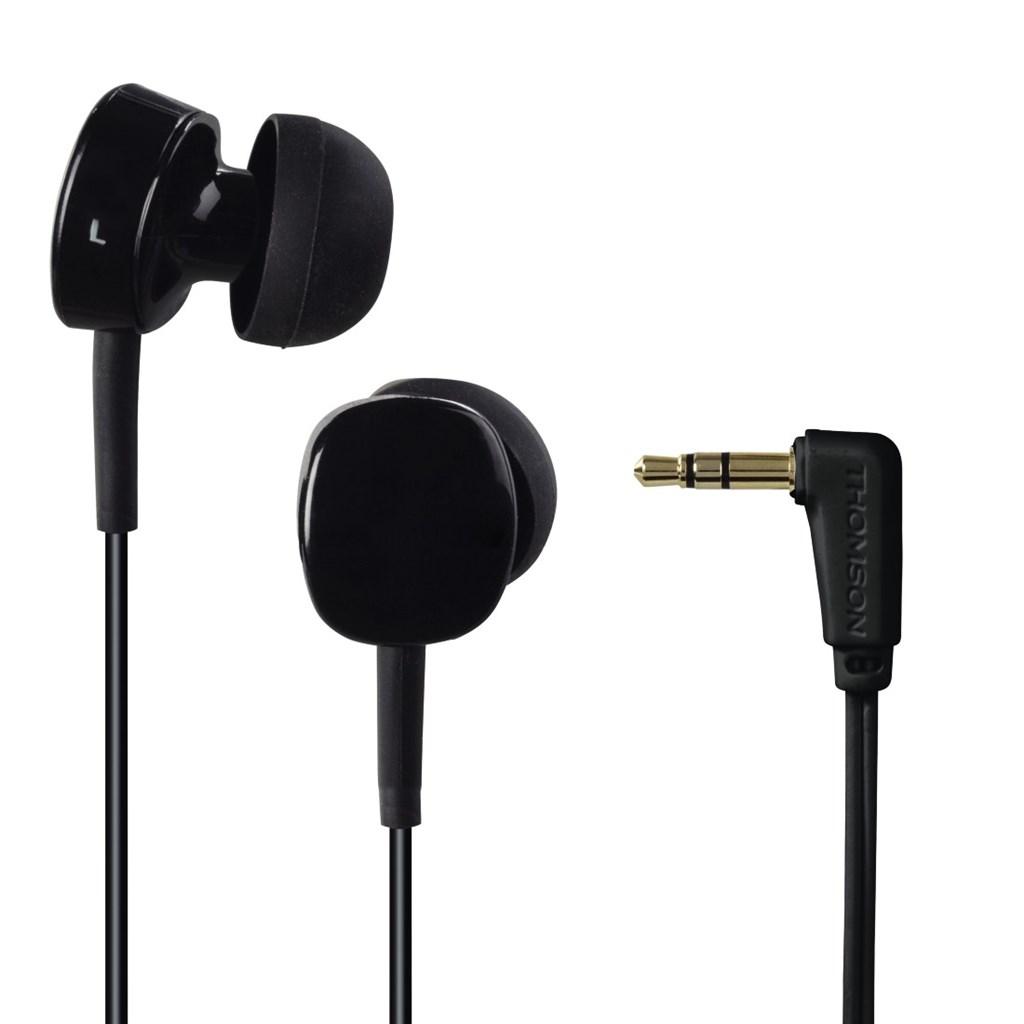 Thomson sluchátka EAR3056, silikonové špunty, černá