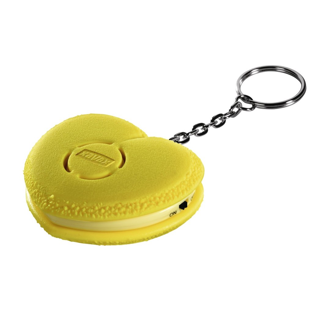 Xavax osobní alarm Srdce s kroužkem na klíče, žlutý