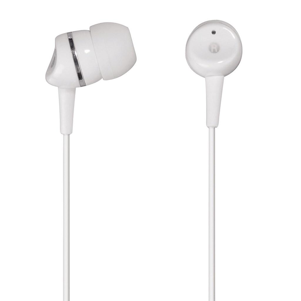 Hama sluchátka s mikrofonem HK-3050, silikonové špunty, bílá