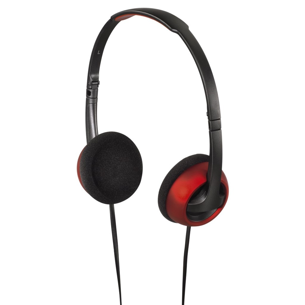 Hama on-ear sluchátka Street, skládací, šedá/červená