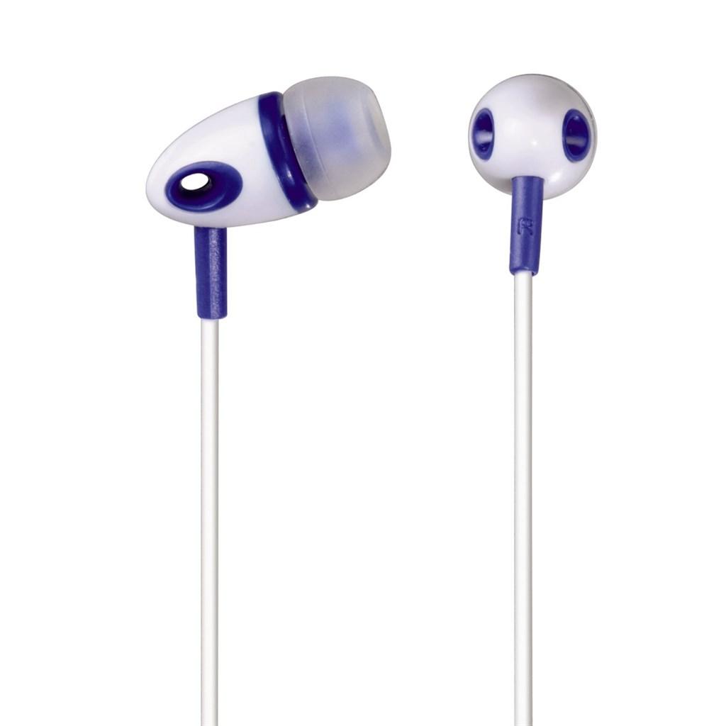Hama sluchátka ME-293, silikonové špunty, bílá/modrá