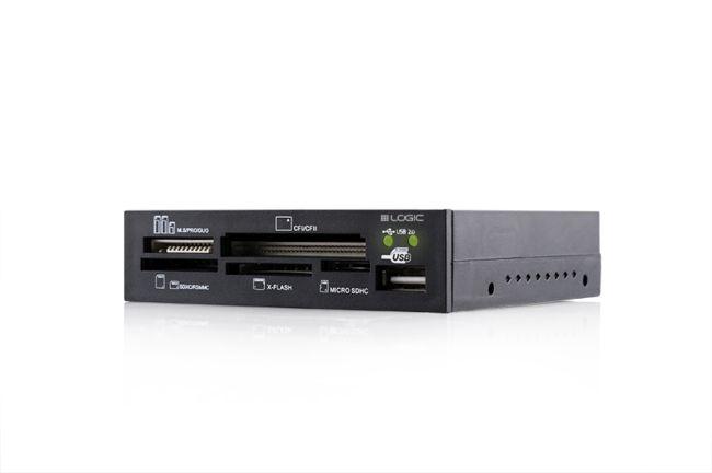 Modecom Logic LCR-100 interní čtečka paměťových karet All In One, CFI, CFII, SD, SDHC, Extreme CF, xD, černá