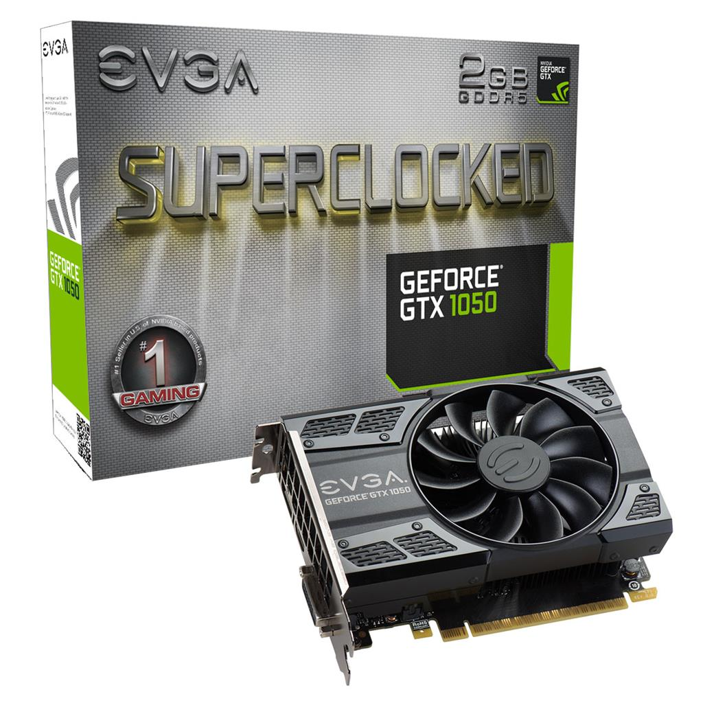 EVGA GeForce GTX 1050 SC Gaming, 2048MB GDDR5, HDMI2.0b, DisplayPort1.4