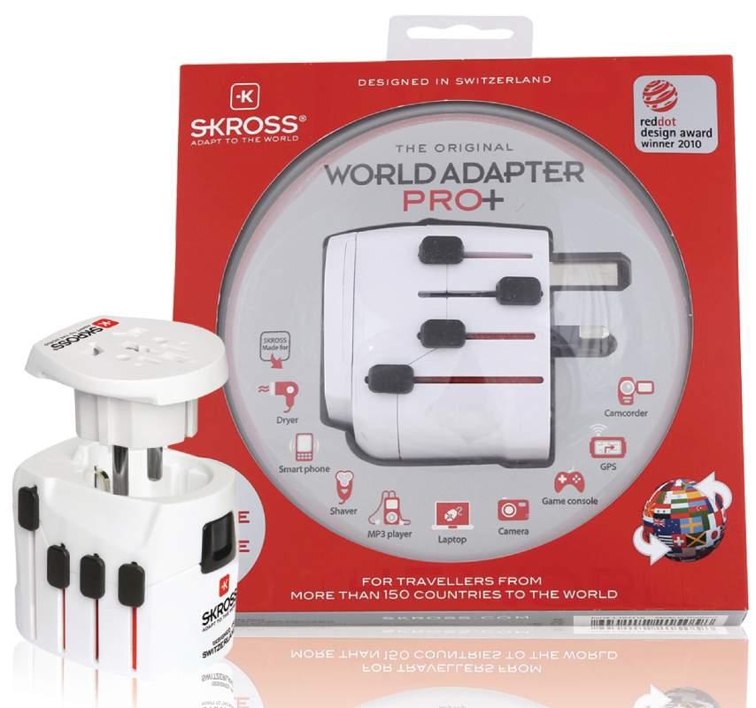 Skross SKR1103130 - World Adapter Pro+ cestovní adaptér