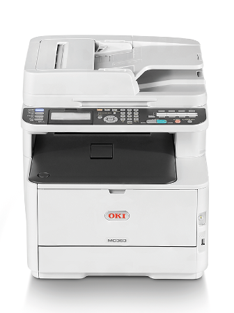 OKI MC363dn A4 30/26 ppm ProQ2400dpi, PCL/PS, RADF, 1GB RAM, USB 2.0 LAN (Print/Scan/Copy/Fax)