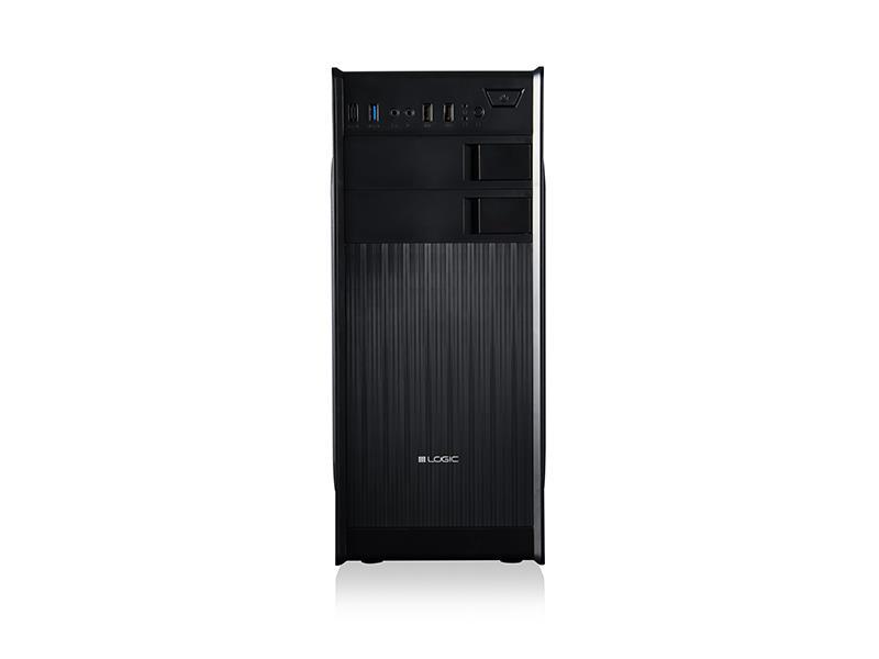 LOGIC PC skříň K2 Midi Tower, zdroj LOGIC 400W ATX PFC, USB 3.0 x 1/ USB 2.0 x 2