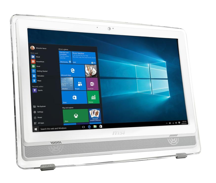 """MSI AIO Pro 22ET 6M-025EU 21.5"""" Multi-Touch/1920x1080/i3-6100/4GB/1TB 7200 ot./HD Graphics 530/DVD/RW/Webcam/W 10 Home"""
