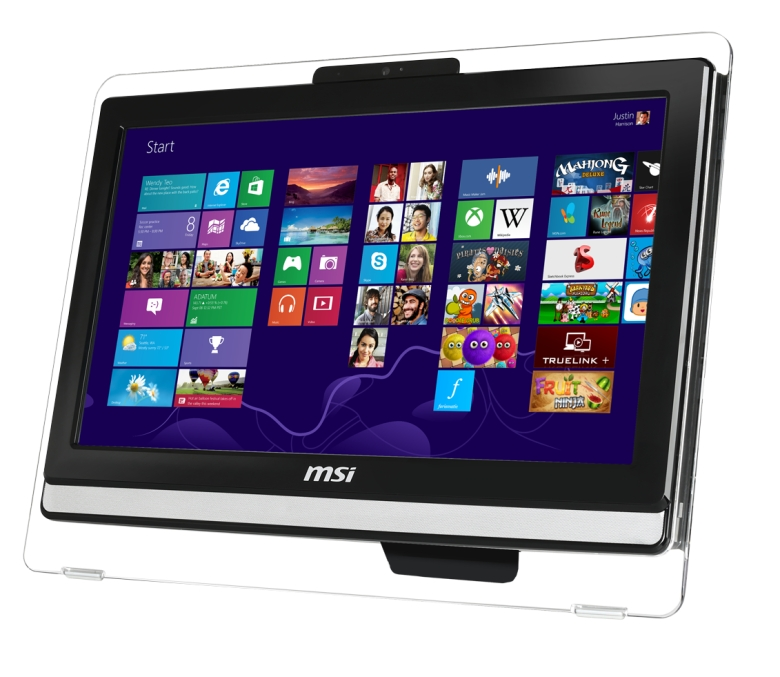 "MSI AIO AE222-283XEU 21.5"" Non-Touch/1920x1080/i3-4160/4GB/500GB 7200 ot./HD Graphics/DVD/RW/Webcam/Repro/Bez systému"