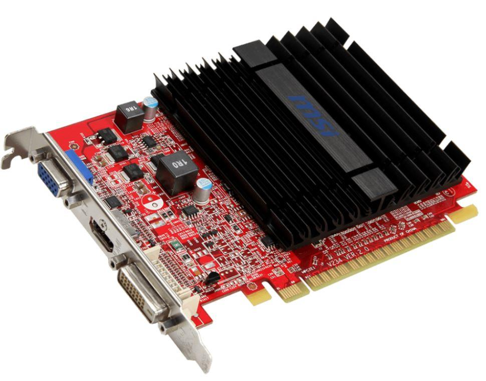 MSI Radeon R5 230, 1GB GDDR3 (64 Bit), HDMI, DVI, D-Sub