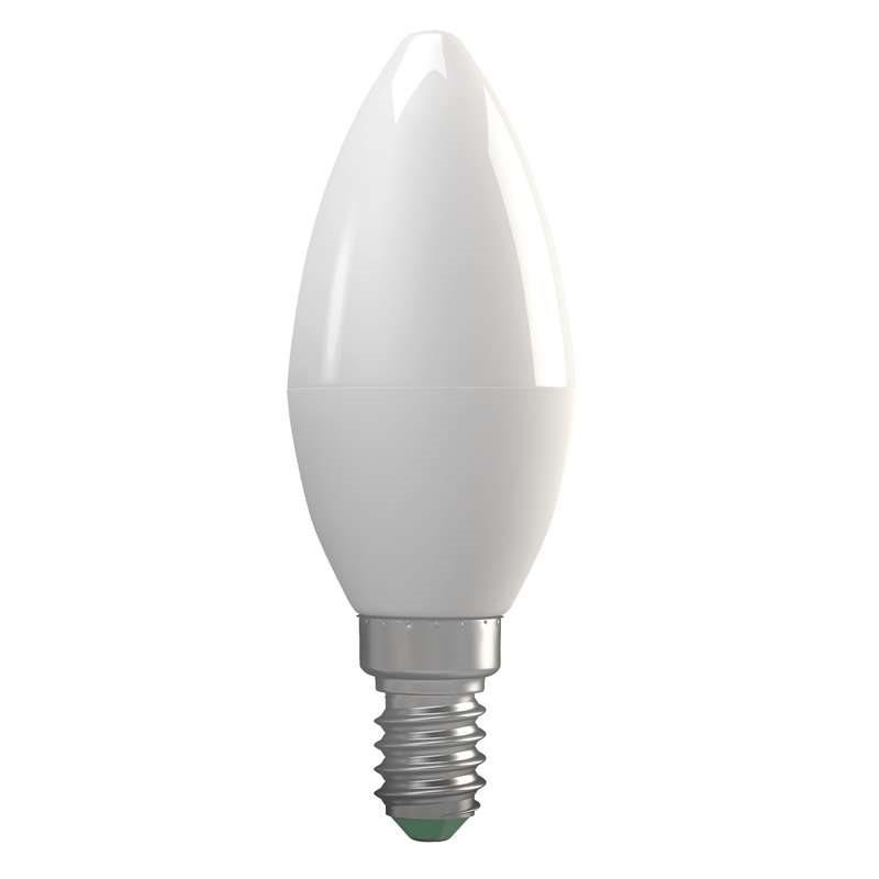 Emos LED žárovka CANDLE, 7W/52W E14, WW teplá bílá, 670 lm, Basic A+