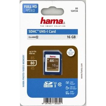 Hama SDHC 16 GB Class 10, UHS-I 80 MB/s