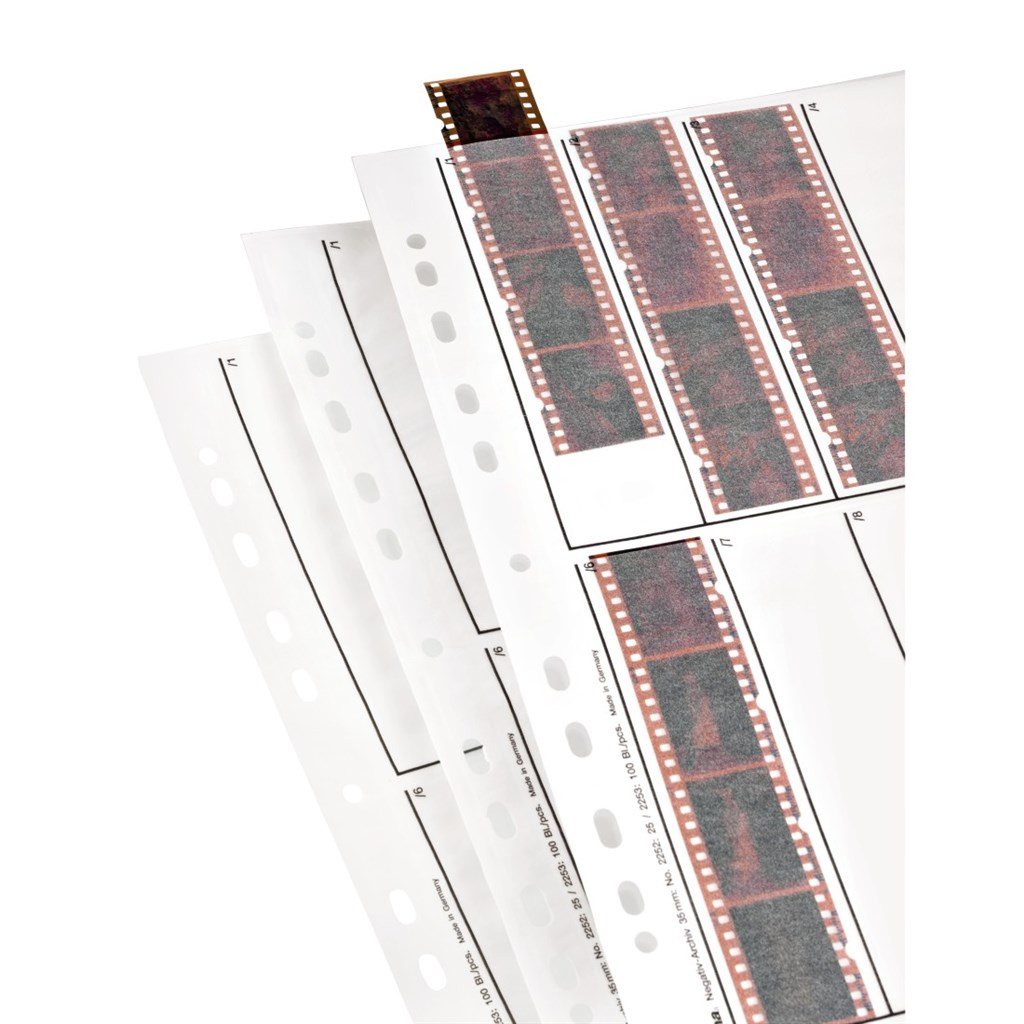 Hama obal na negativ, 24x36 mm, pergamen matný, 250x315 mm, 25 ks