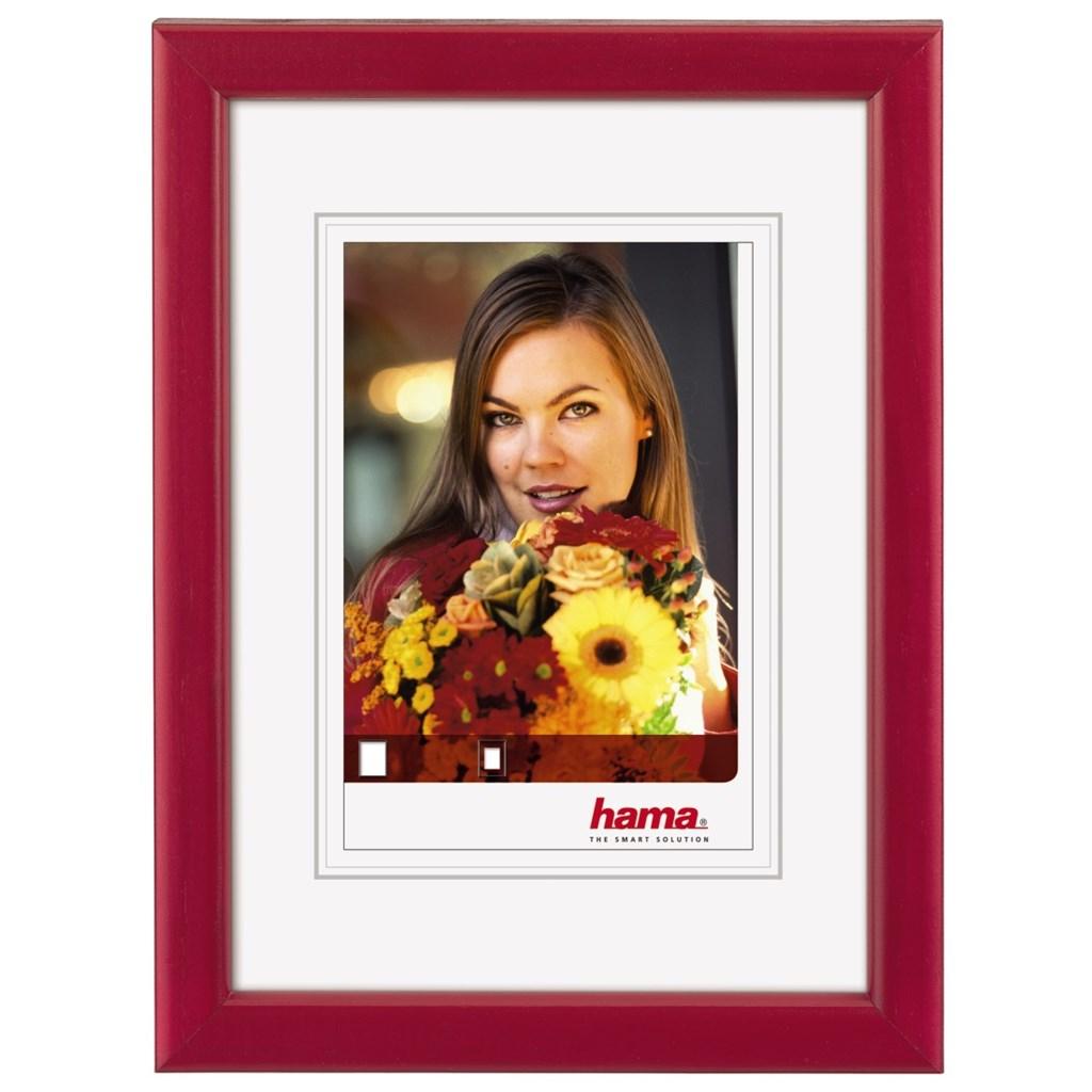 Hama rámeček dřevěný BELLA, červená, 13x18 cm