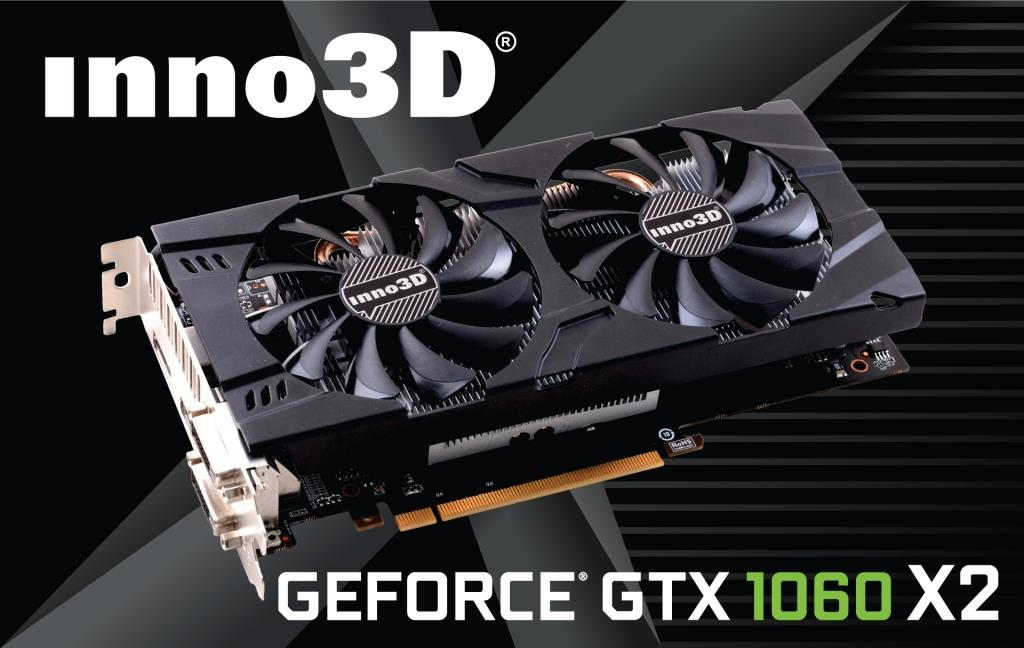 Inno3D GeForce GTX 1060 TwinX2, 3GB, Dual DVI, HDMI+DP