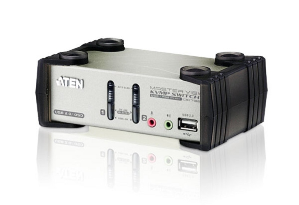 ATEN CS1732A 2-Port USB KVMP Switch, 2x USB KVM Cables, 2-port USB Hub, Audio