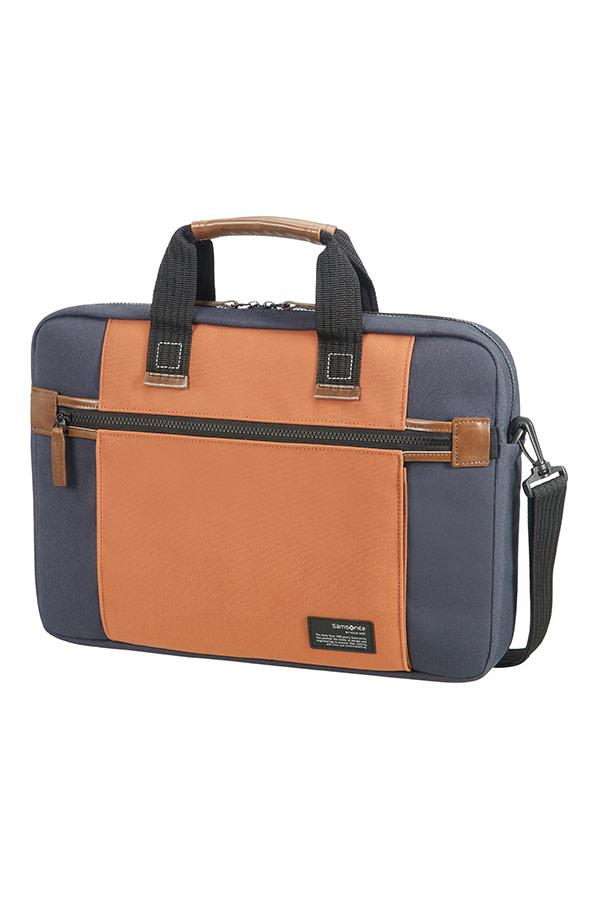 Case SAMSONITE 22N11004 SIDEWAYS 15,6'' comp, pock, tblt, topload., blue/orange