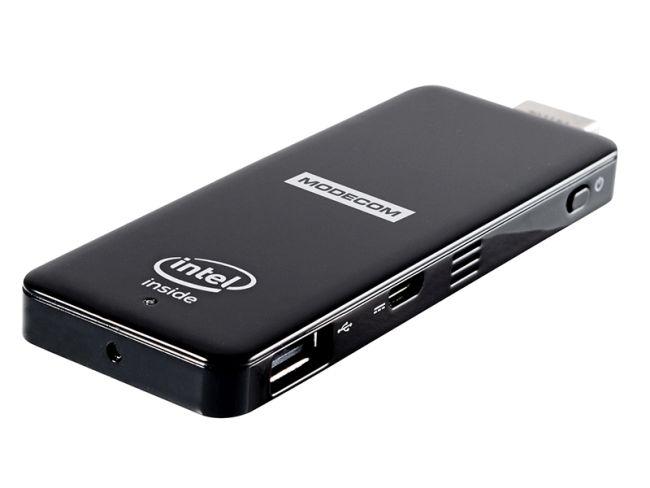 Modecom FreePC mini PC 32GB, Quad Atom Z3735F, 2GB RAM, Intel HD graphics, Win 10, 2x USB, Wi-Fi, microSDHC, černý
