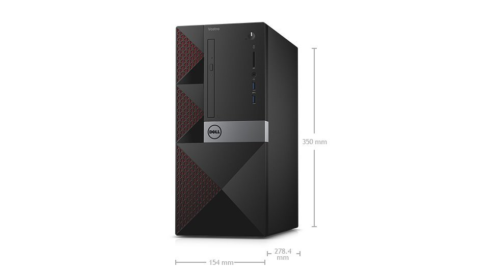 DELL Vostro 3650 MT/i3-6100/4GB/500GB/Intel HD/DVD-RW/Win10 Pro 64bit