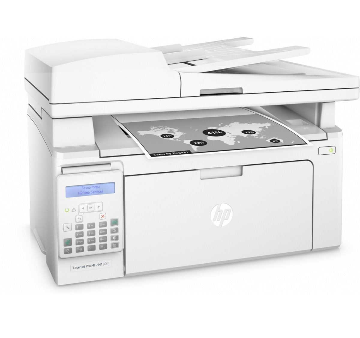 HP LaserJet Pro MFP M130fn (A4, 22ppm, USB, Ethernet, Print/Scan/Copy/Fax)