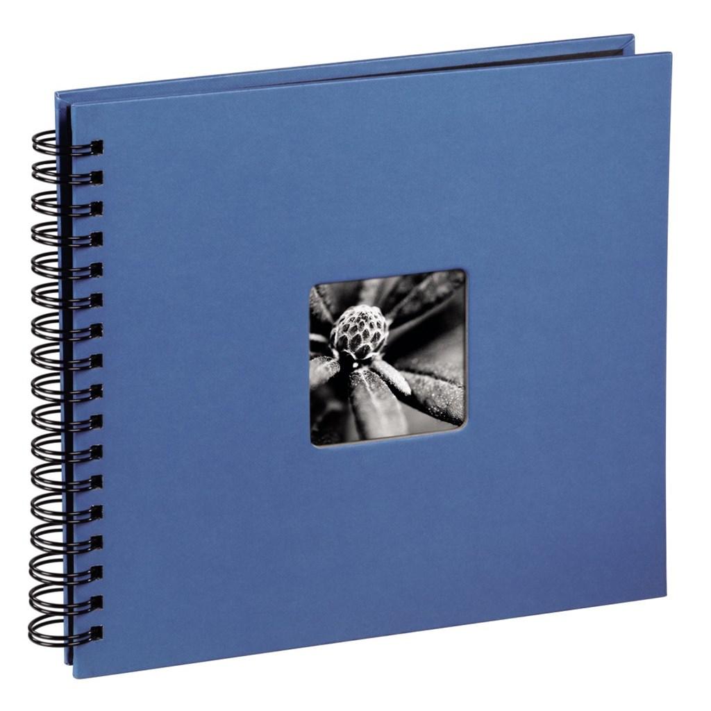 Hama album klasické spirálové FINE ART 28x24 cm, 50 stran, azurové