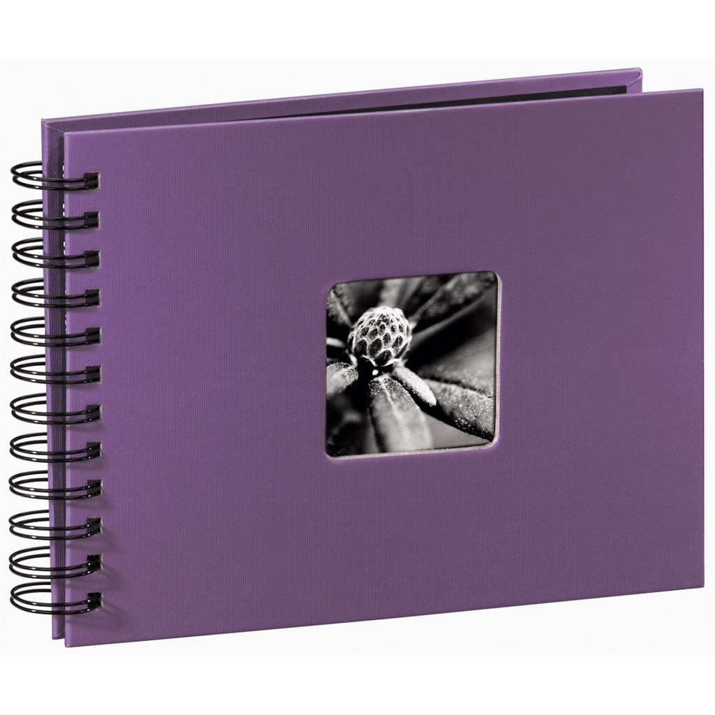 Hama album klasické spirálové FINE ART 24x17 cm, 50 stran, lila