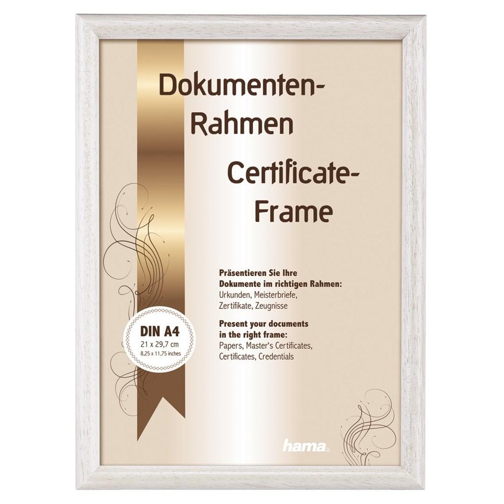 Hama rámeček dřevěný OREGON, bílá, 21x29,7cm