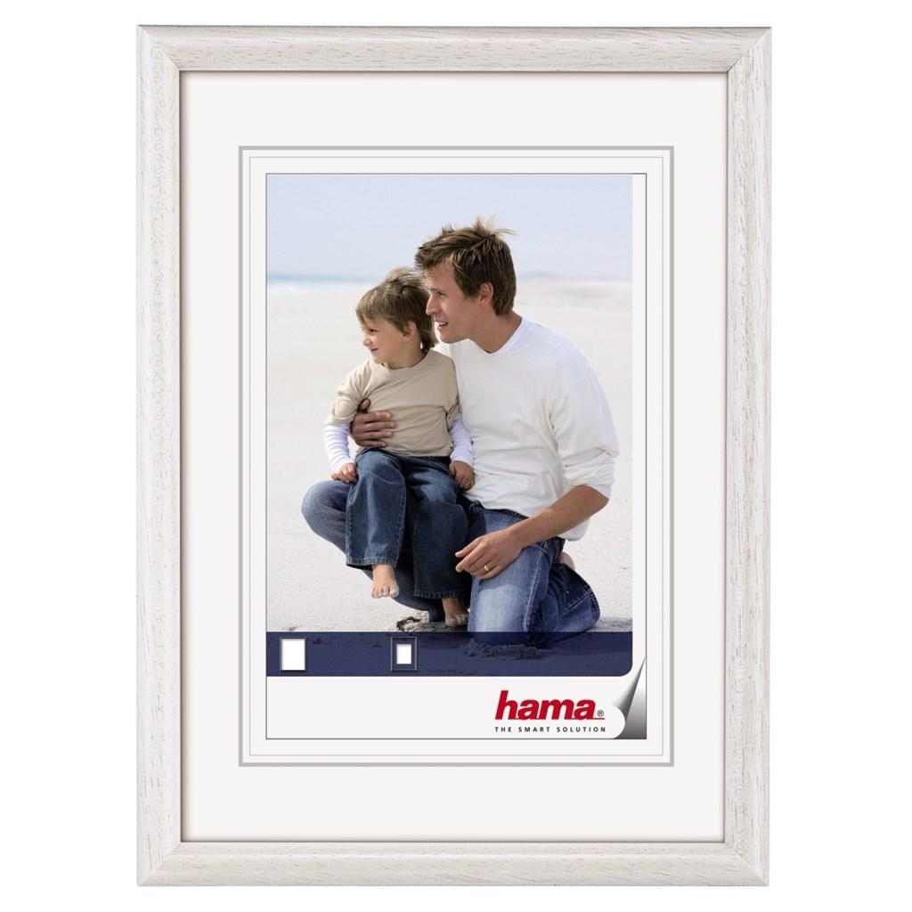 Hama rámeček dřevěný OREGON, bílý, 10x15cm