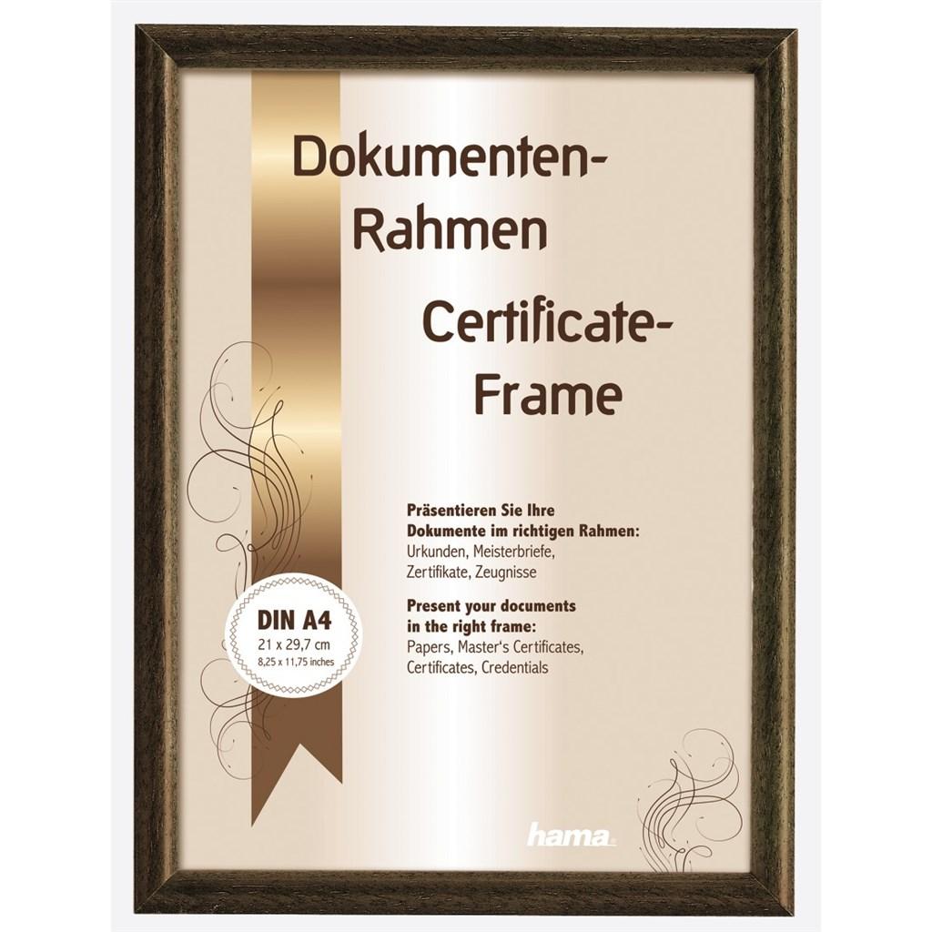 Hama rámeček dřevěný OREGON, hnědý, 21x29,7cm
