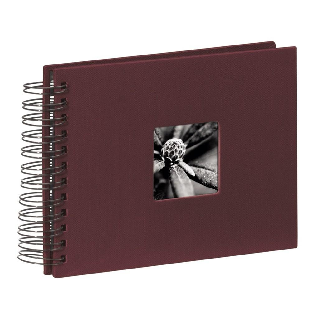 Hama album klasické spirálové FINE ART 24x17 cm, 50 stran, bordó