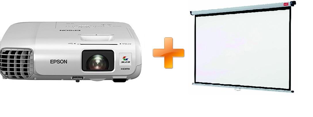 EPSON 3LCD/3chip projektor EB-965H 1024x768 XGA/3500 ANSI/10000:1/2xHDMI/LAN/16W Repro/optionWi-fi/(EB965H)