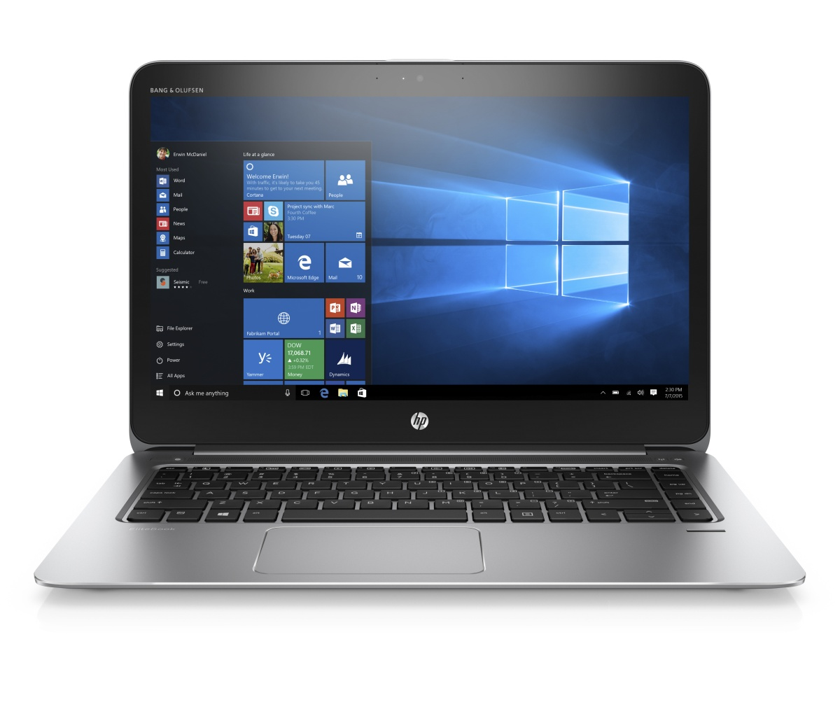 """HP EliteBook 1040 G3 i7-6500U 14"""" FHD privacy touch CAM, 8GB, 512GB, ac, BT, backlit keyb, NFC, RJ45-VGA Adapt, 6C LL ba"""