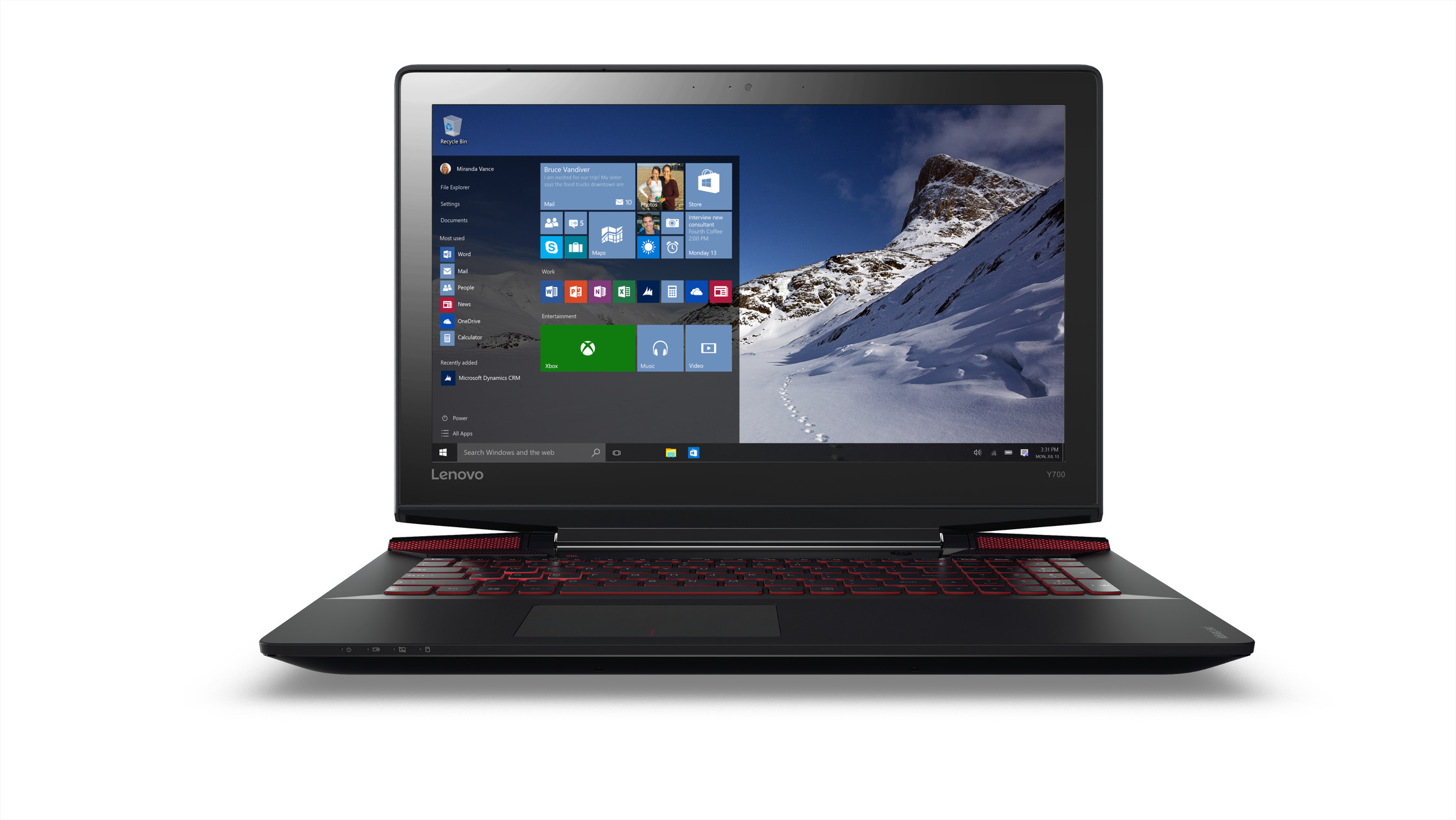 "Lenovo IdeaPad Y700 i7-6700HQ 3,50GHz/8GB/128GB SSD+1TB HDD/15,6"" FHD/IPS/AG/GeForce 4GB/3DCAM/WIN10 černá 80NV00VVCK"