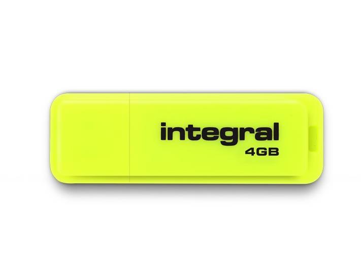 INTEGRAL Drive Neon 4GB USB 2.0 flashdisk, žlutý