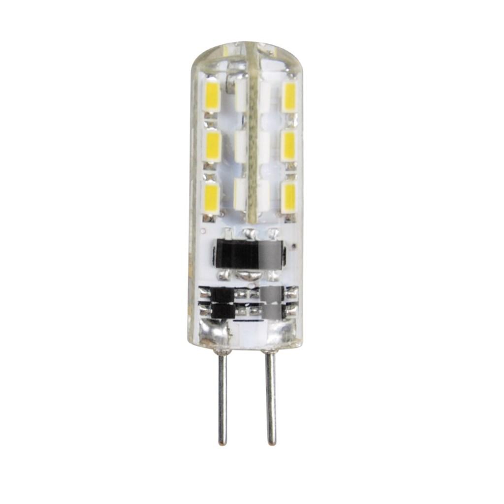 Xavax LED žárovka, 12 V, 1,3 W (=11 W), G4, silikonová, teplá bílá