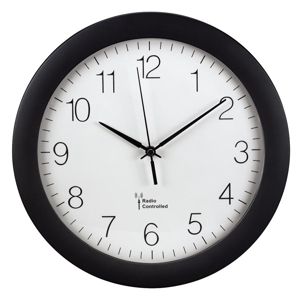 Hama nástěnné hodiny PG-300, řízené rádiovým signálem, černé